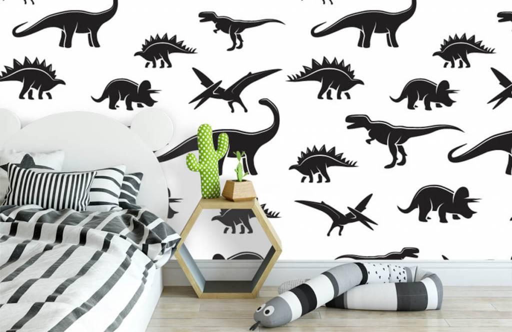 Dinosaurussen - Zwarte dino's - Kinderkamer 3