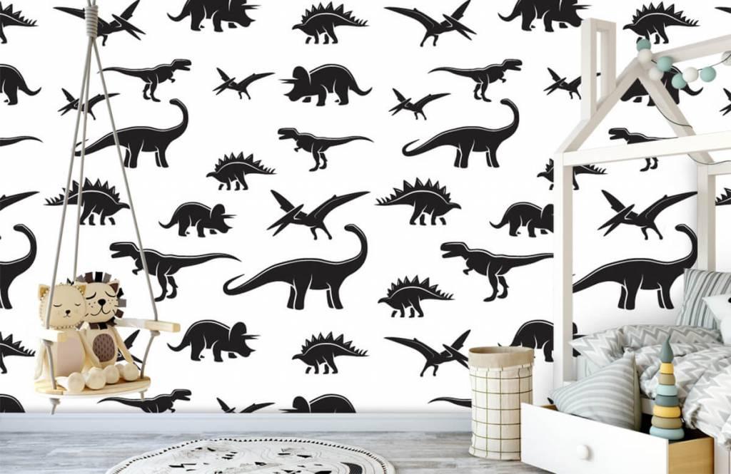 Dinosaurussen - Zwarte dino's - Kinderkamer 4