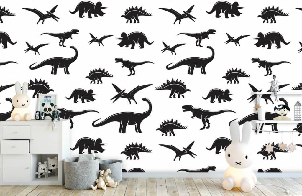 Dinosaurussen - Zwarte dino's - Kinderkamer 5