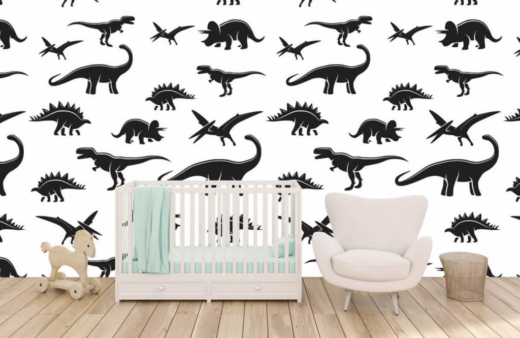 Dinosaurussen - Zwarte dino's - Kinderkamer 6