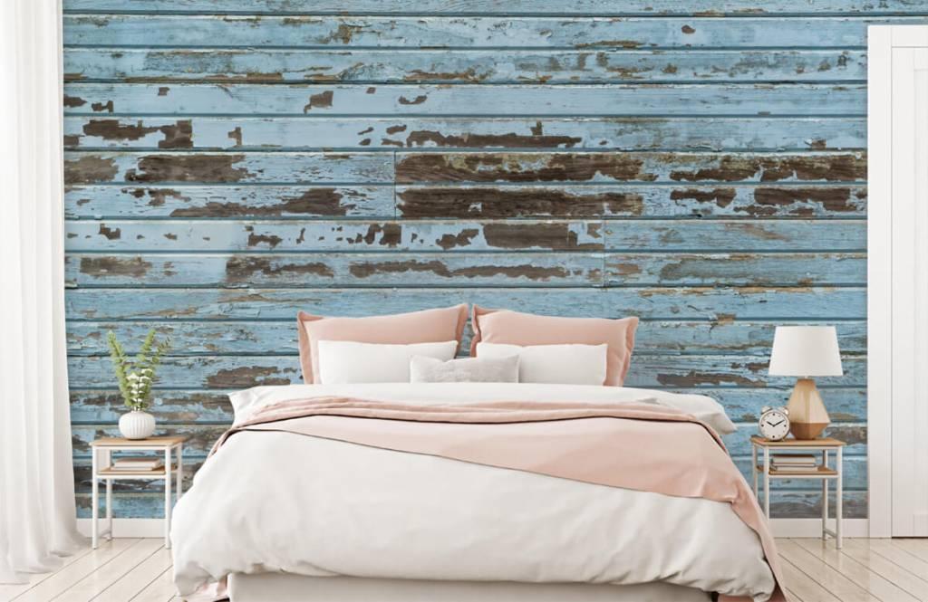 Hout behang - Vintage hout - Slaapkamer 2