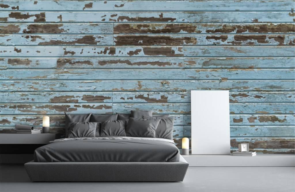 Hout behang - Vintage hout - Slaapkamer 3