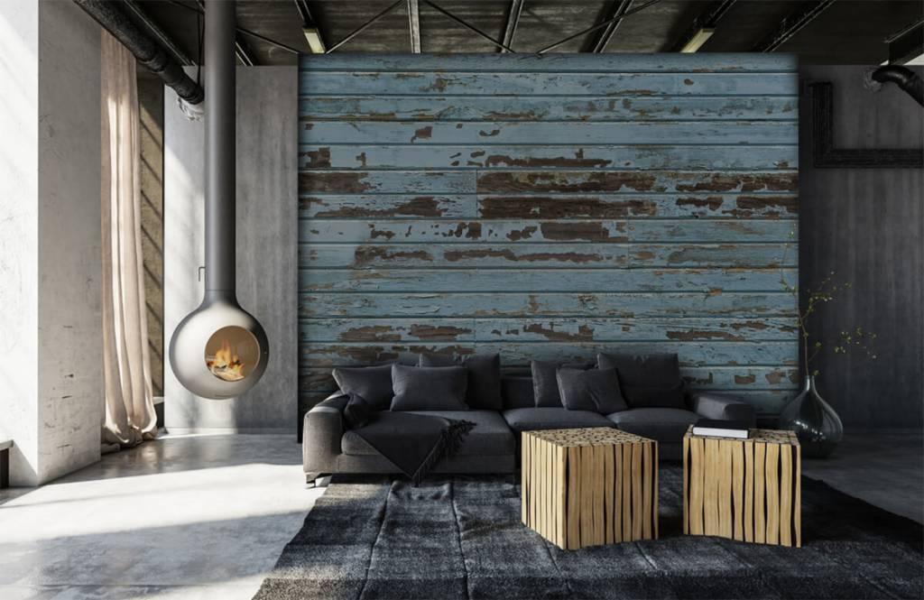 Hout behang - Vintage hout - Slaapkamer 6