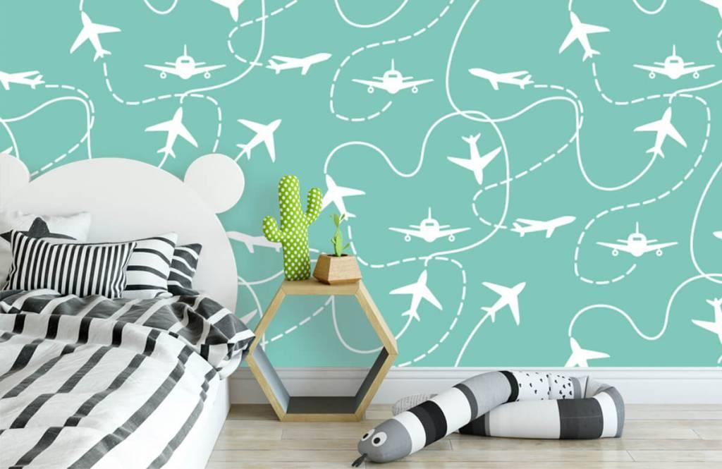Overige - Vliegtuigen en lijnen - Kinderkamer 3