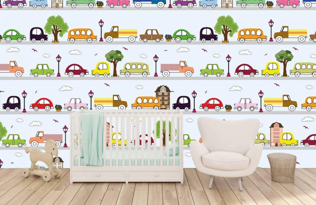 Baby behang - Voertuigen - Babykamer 1