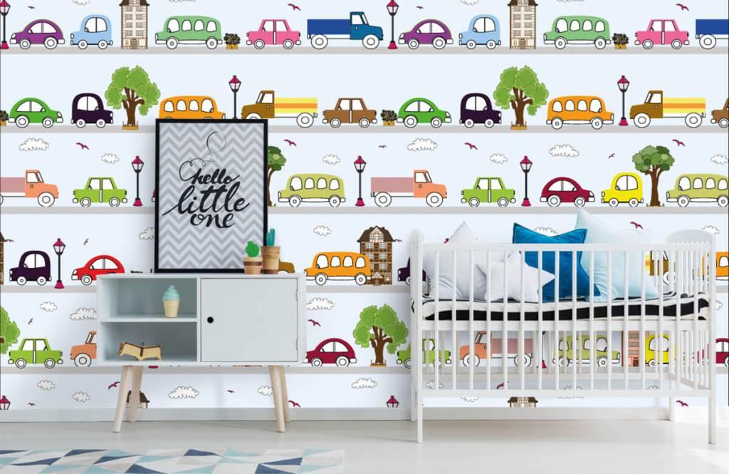 Baby behang - Voertuigen - Babykamer 5