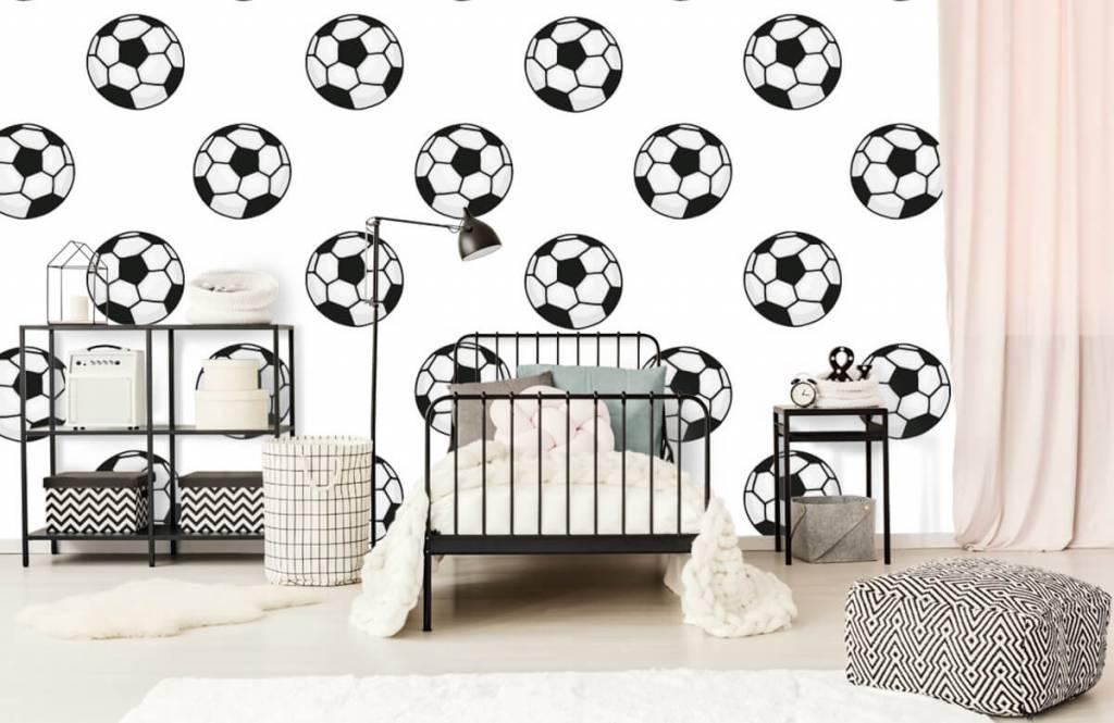 Voetbal behang - Voetballen - Kinderkamer 1
