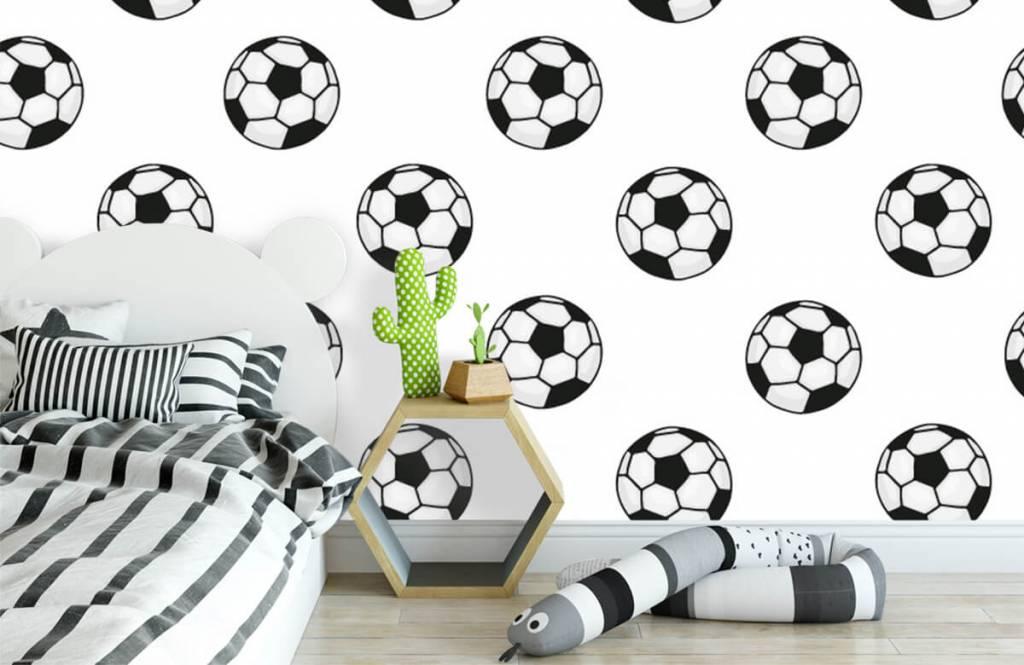 Voetbal behang - Voetballen - Kinderkamer 2