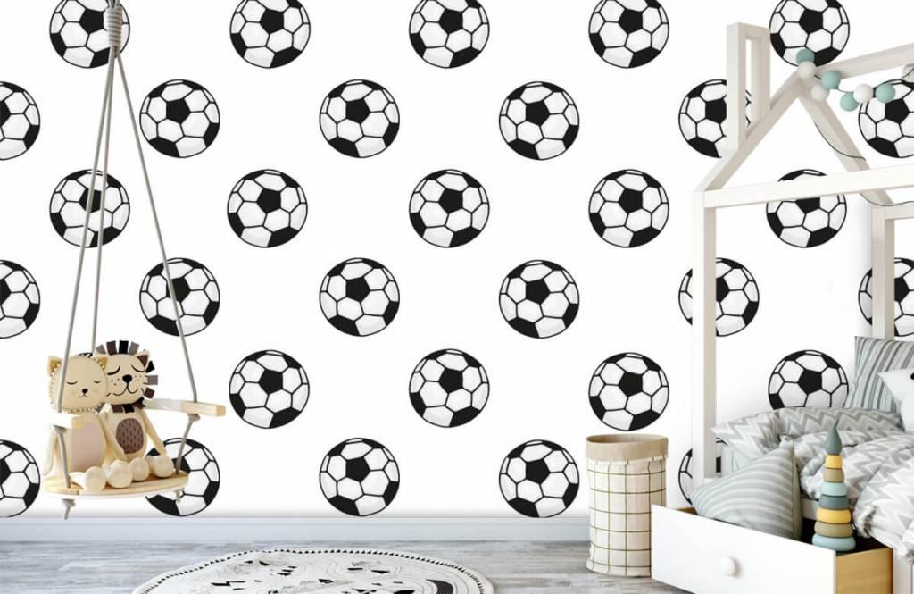 Voetbal behang - Voetballen - Kinderkamer 3