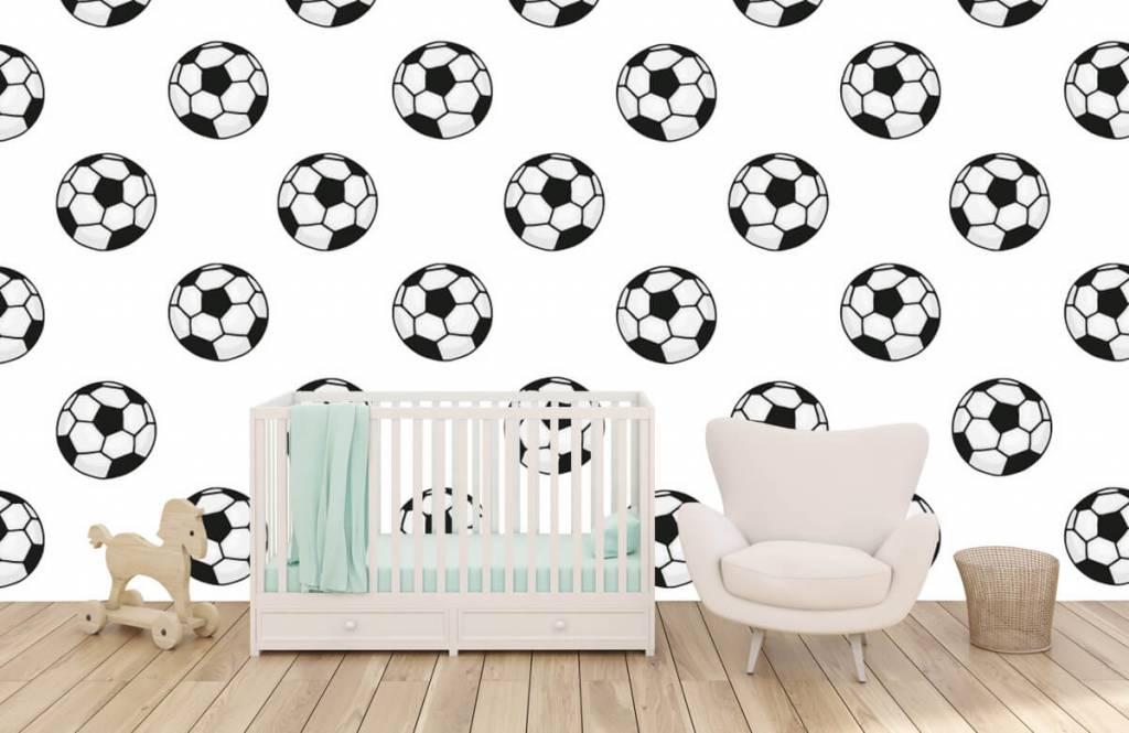 Voetbal behang - Voetballen - Kinderkamer 4
