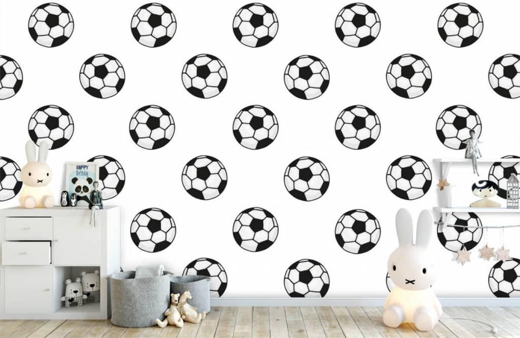 Voetbal behang - Voetballen - Kinderkamer 5