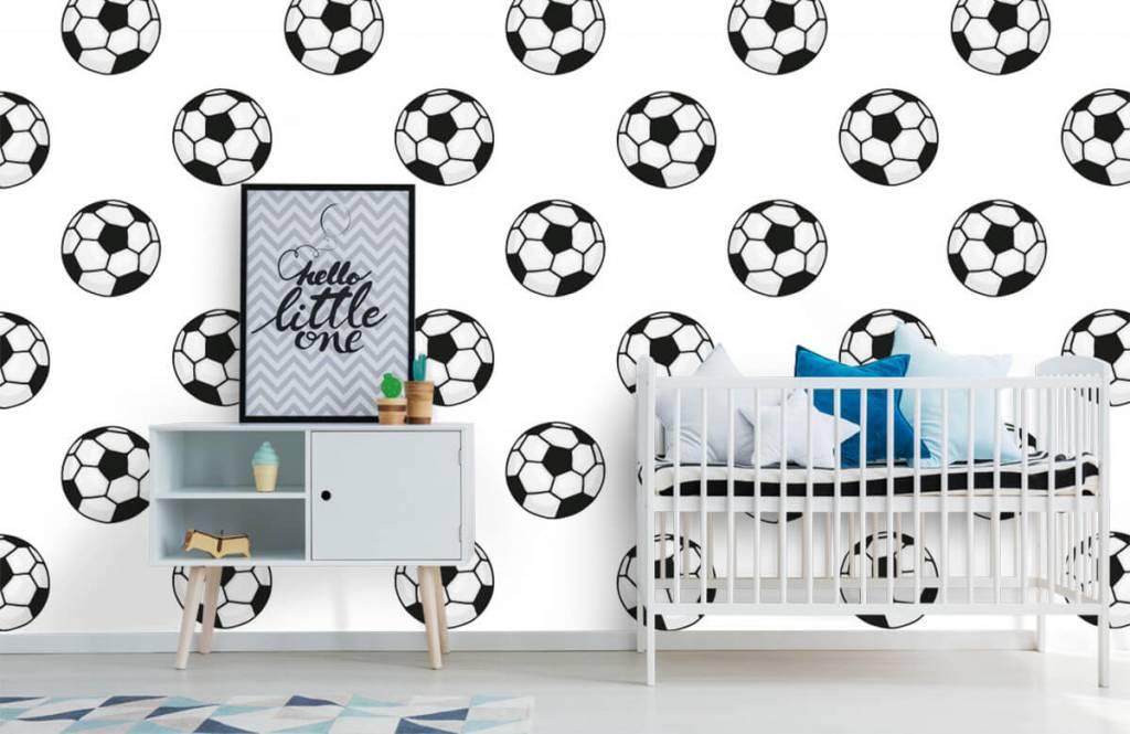 Voetbal behang - Voetballen - Kinderkamer 6