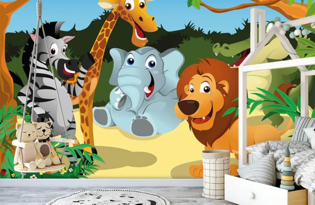 Safaridieren - Vrolijke wilde dieren - Kinderkamer 1