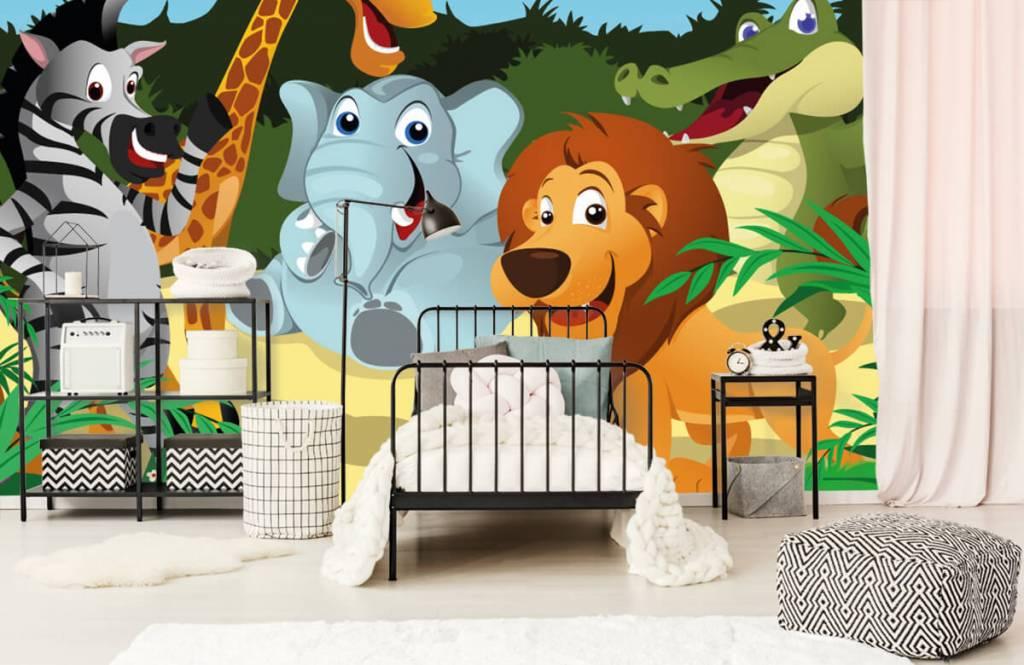 Safaridieren - Vrolijke wilde dieren - Kinderkamer 2