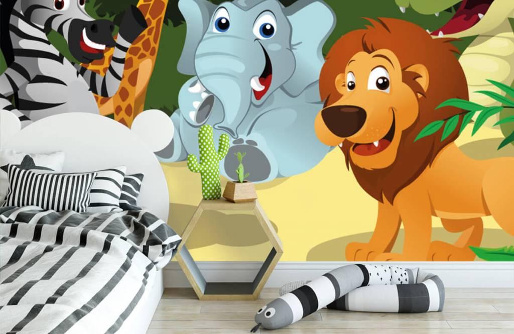 Safaridieren - Vrolijke wilde dieren - Kinderkamer 3