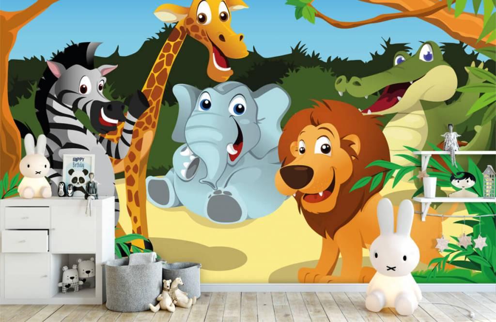 Safaridieren - Vrolijke wilde dieren - Kinderkamer 4