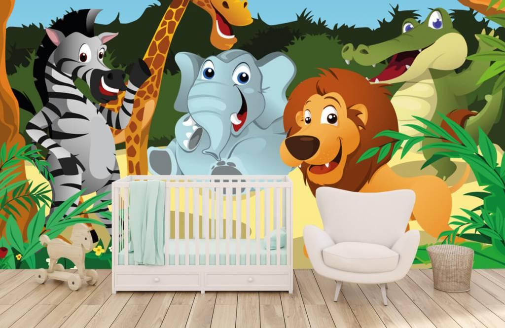 Safaridieren - Vrolijke wilde dieren - Kinderkamer 5