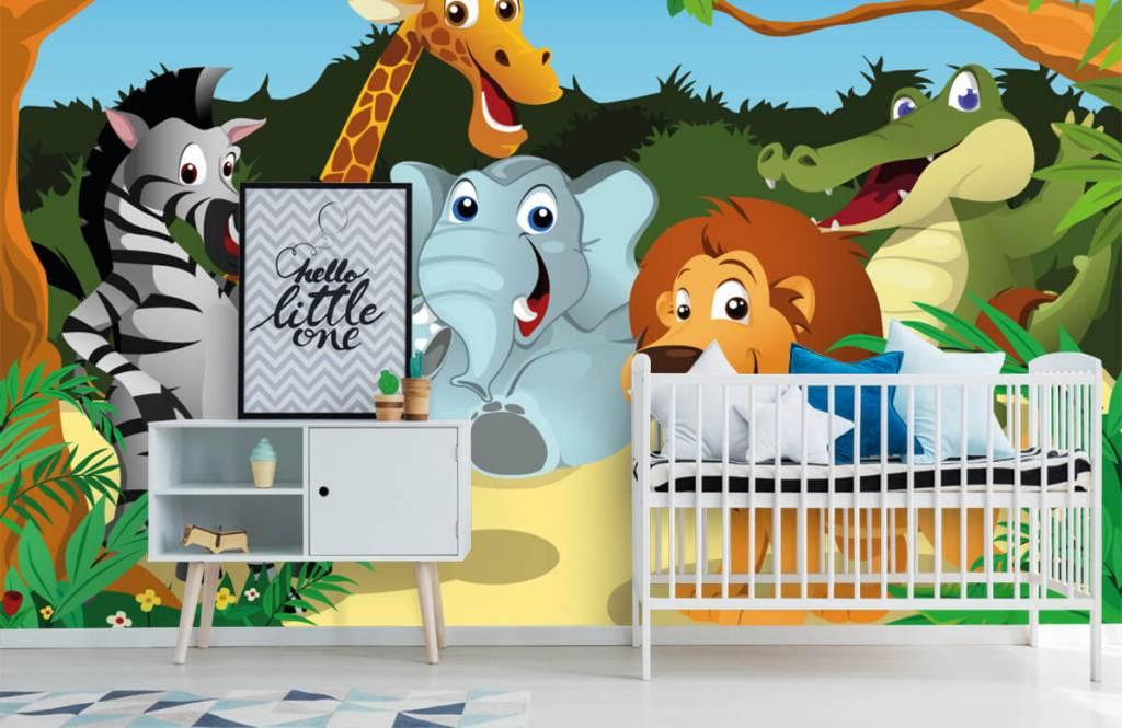 Safaridieren - Vrolijke wilde dieren - Kinderkamer 6