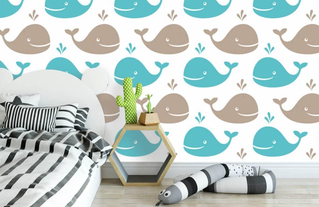 Zeedieren - Walvisjes - Kinderkamer 3