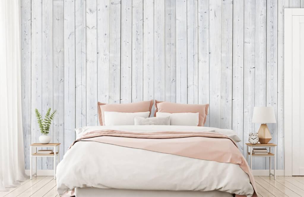 Hout behang - Whitewash hout verticaal - Slaapkamer 2