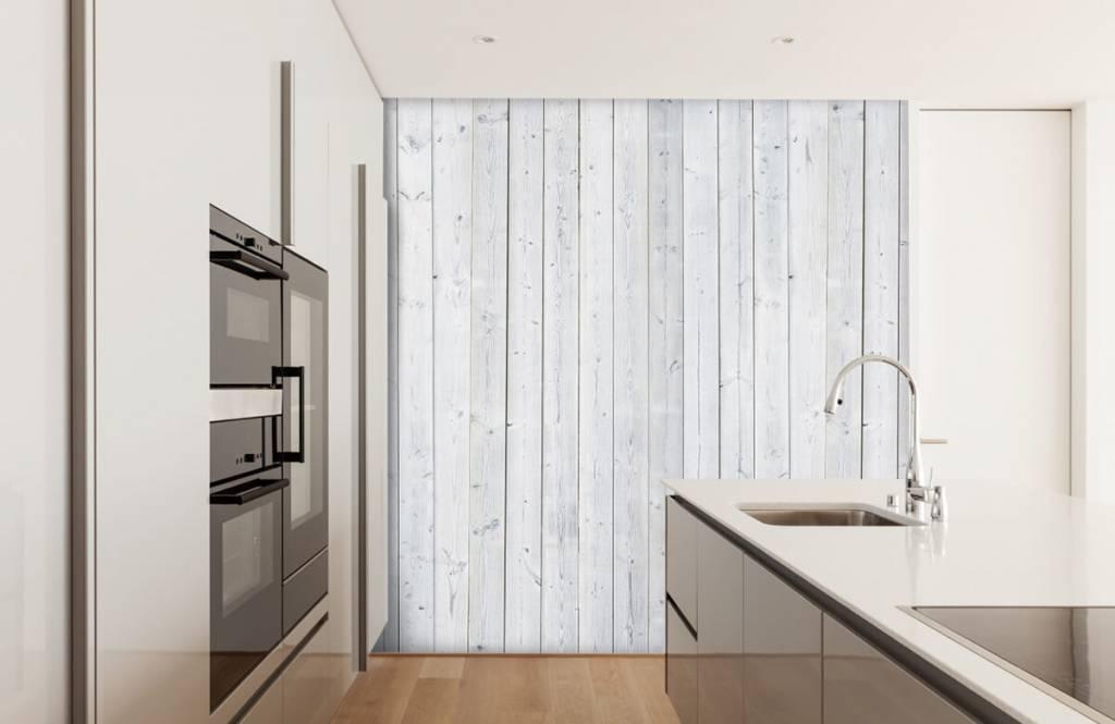 Hout behang - Whitewash hout verticaal - Slaapkamer 4