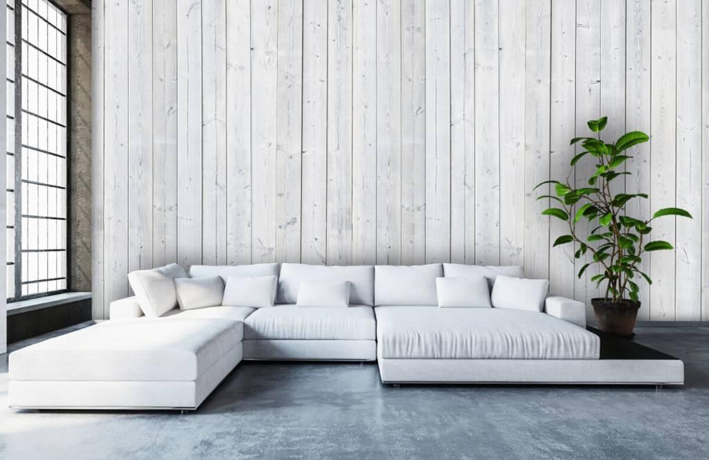 Hout behang - Whitewash hout verticaal - Slaapkamer 5