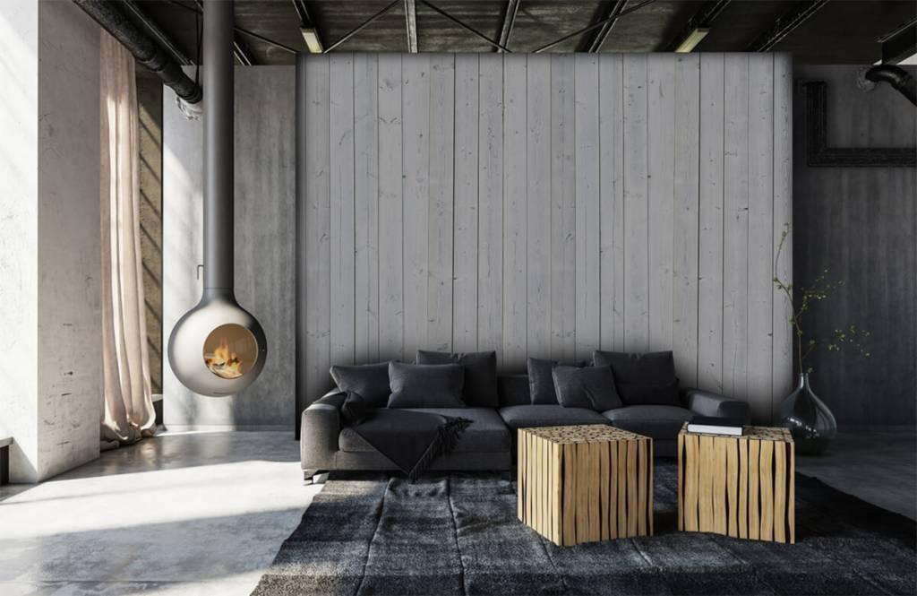 Hout behang - Whitewash hout verticaal - Slaapkamer 6