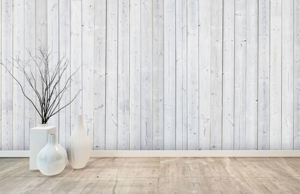 Hout behang - Whitewash hout verticaal - Slaapkamer 8