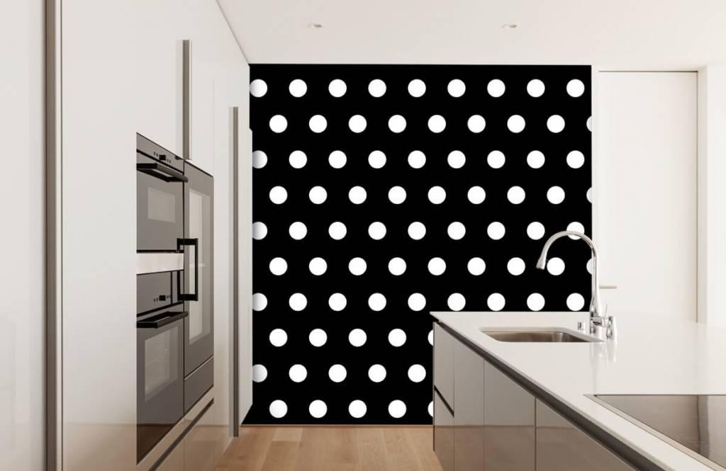 Overige - Witte stippen op zwarte achtergrond - Babykamer 3