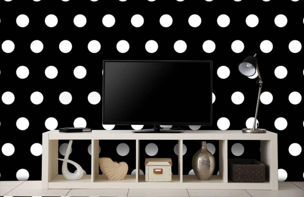 Overige - Witte stippen op zwarte achtergrond - Babykamer 4