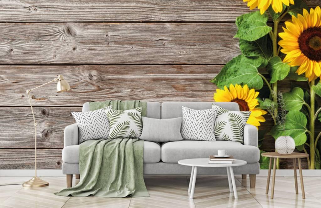 Zonnebloemen - Zonnebloemen en hout - Garage 7