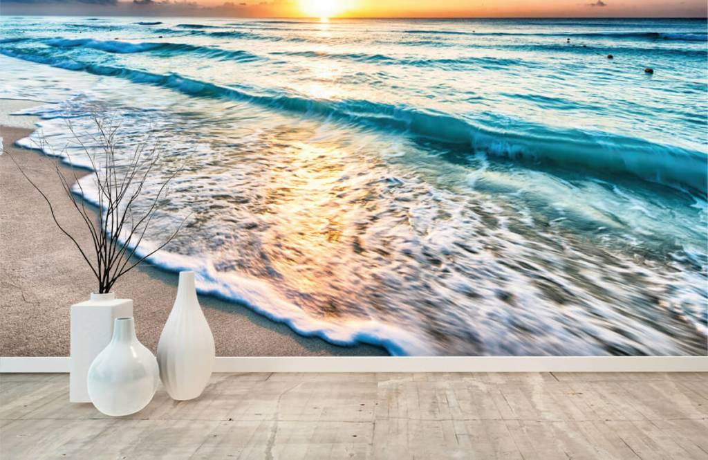 Zeeën en Oceanen - Zonsondergang boven zee - Slaapkamer 1