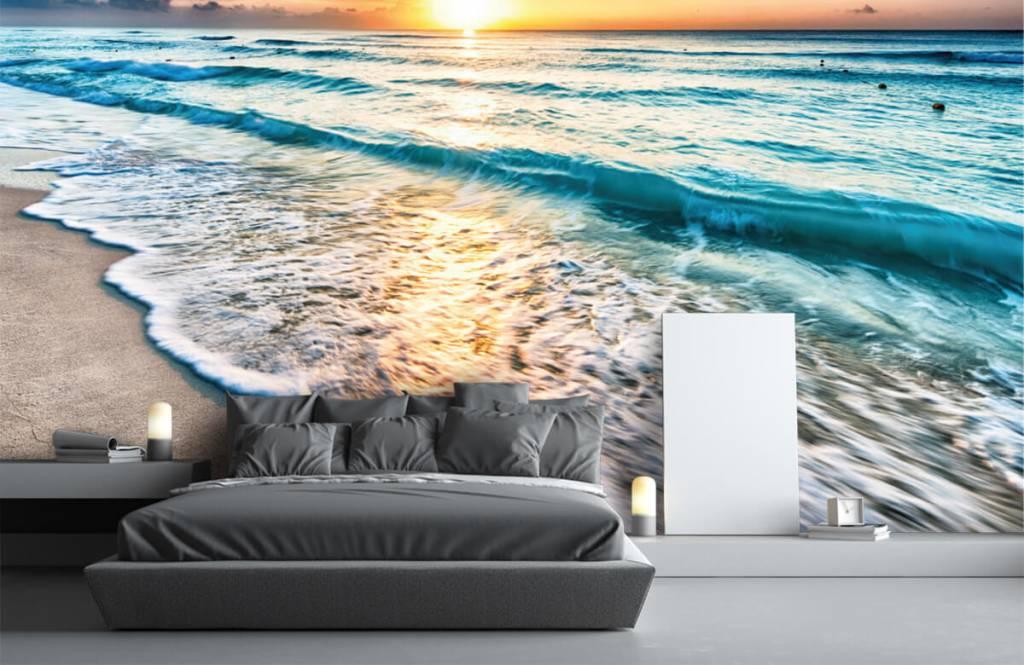 Zeeën en Oceanen - Zonsondergang boven zee - Slaapkamer 2