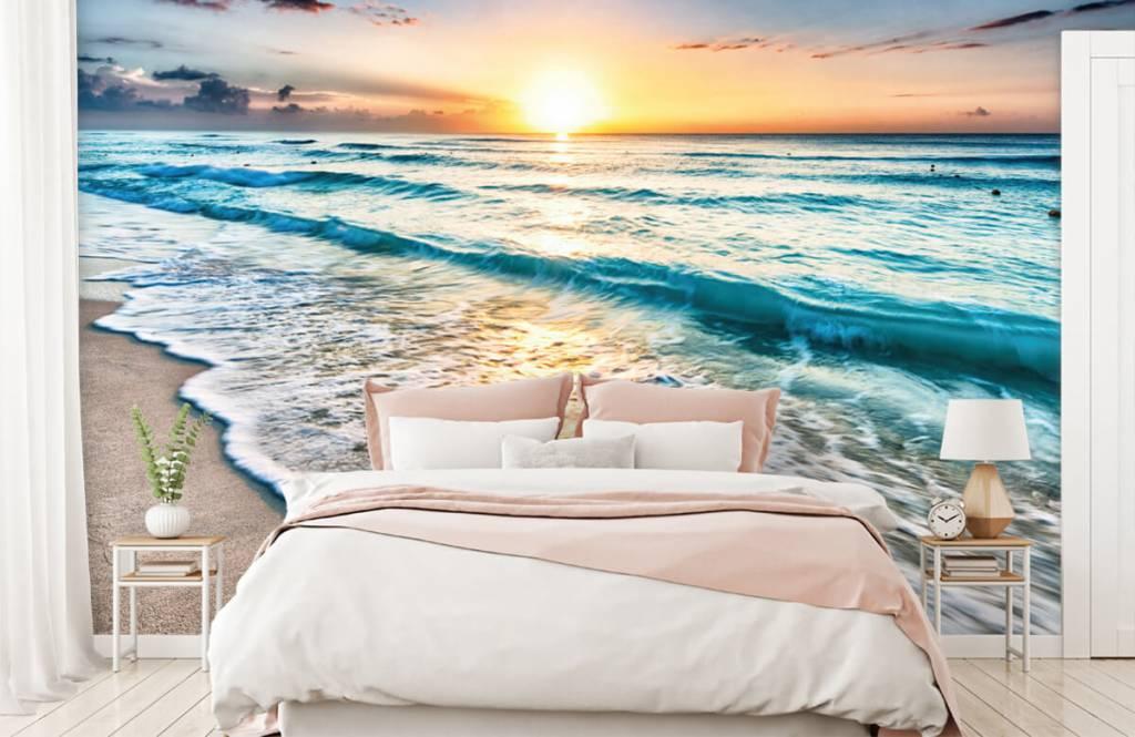 Zeeën en Oceanen - Zonsondergang boven zee - Slaapkamer 3