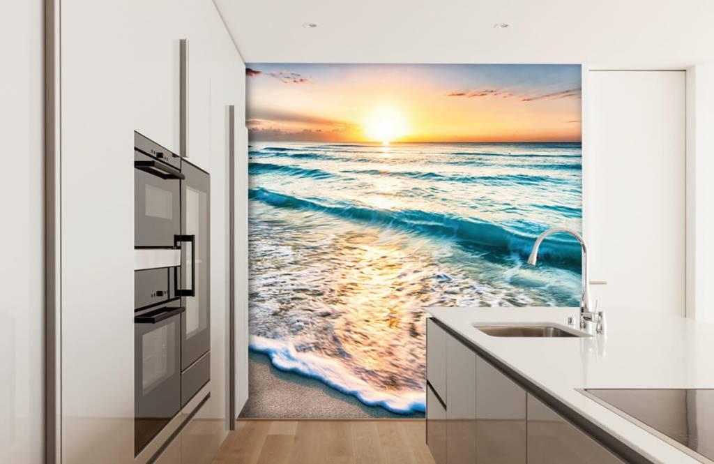 Zeeën en Oceanen - Zonsondergang boven zee - Slaapkamer 4