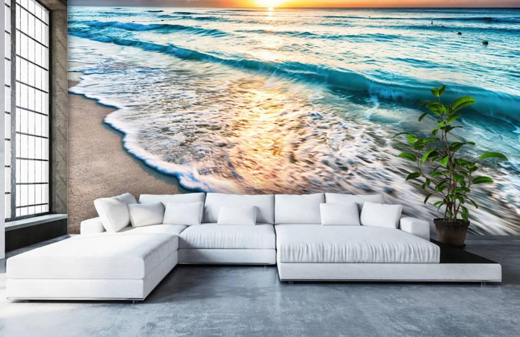 Zeeën en Oceanen - Zonsondergang boven zee - Slaapkamer 6