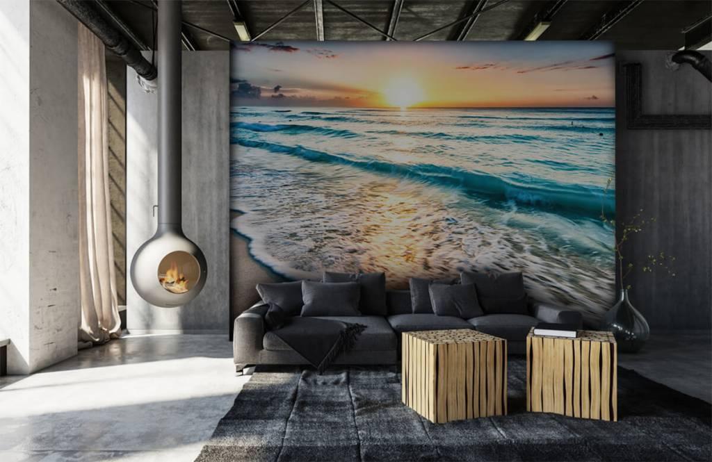 Zeeën en Oceanen - Zonsondergang boven zee - Slaapkamer 7