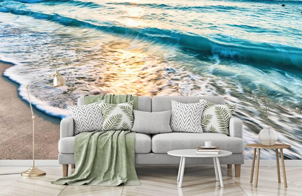 Zeeën en Oceanen - Zonsondergang boven zee - Slaapkamer 8