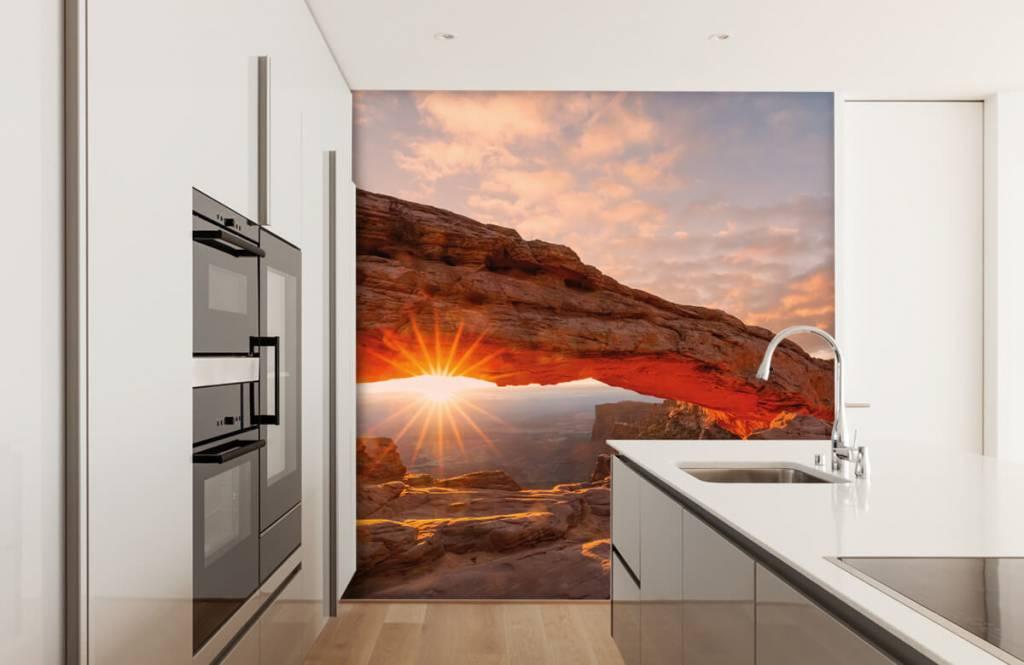 Bergen - Zonsondergang onder rotsen - Slaapkamer 3