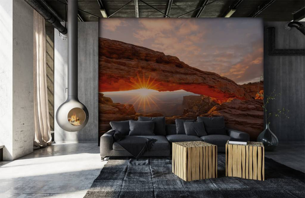 Bergen - Zonsondergang onder rotsen - Slaapkamer 6
