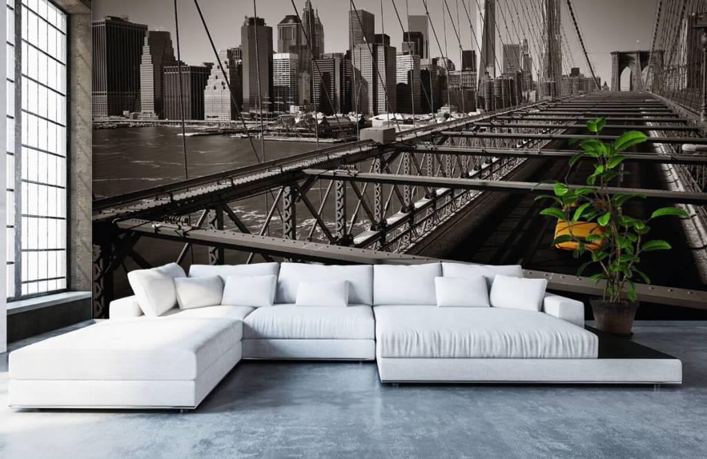 Zwart Wit behang - Skyline Manhattan - Tienerkamer 1