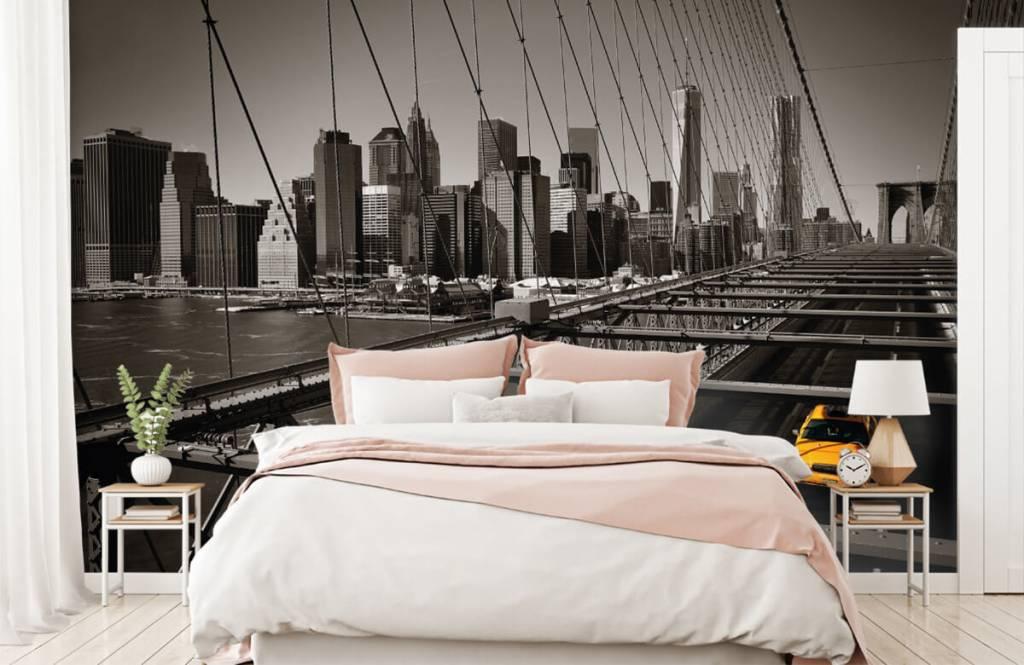 Zwart Wit behang - Skyline Manhattan - Tienerkamer 2