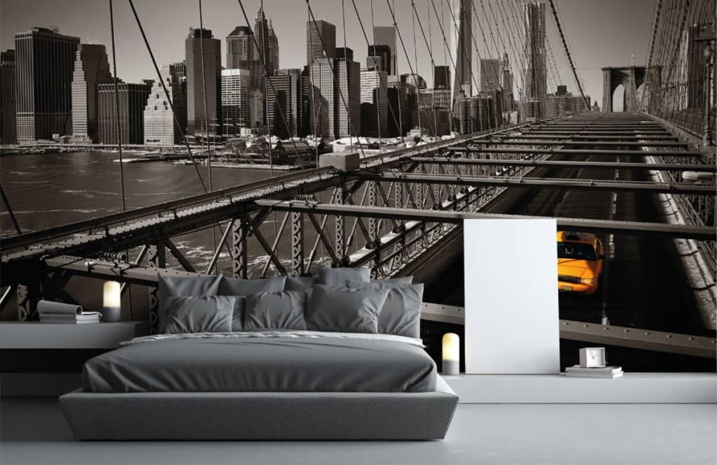 Zwart Wit behang - Skyline Manhattan - Tienerkamer 3