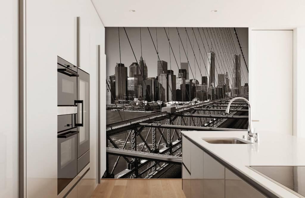 Zwart Wit behang - Skyline Manhattan - Tienerkamer 4