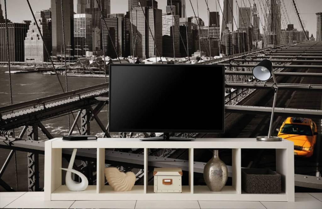 Zwart Wit behang - Skyline Manhattan - Tienerkamer 5