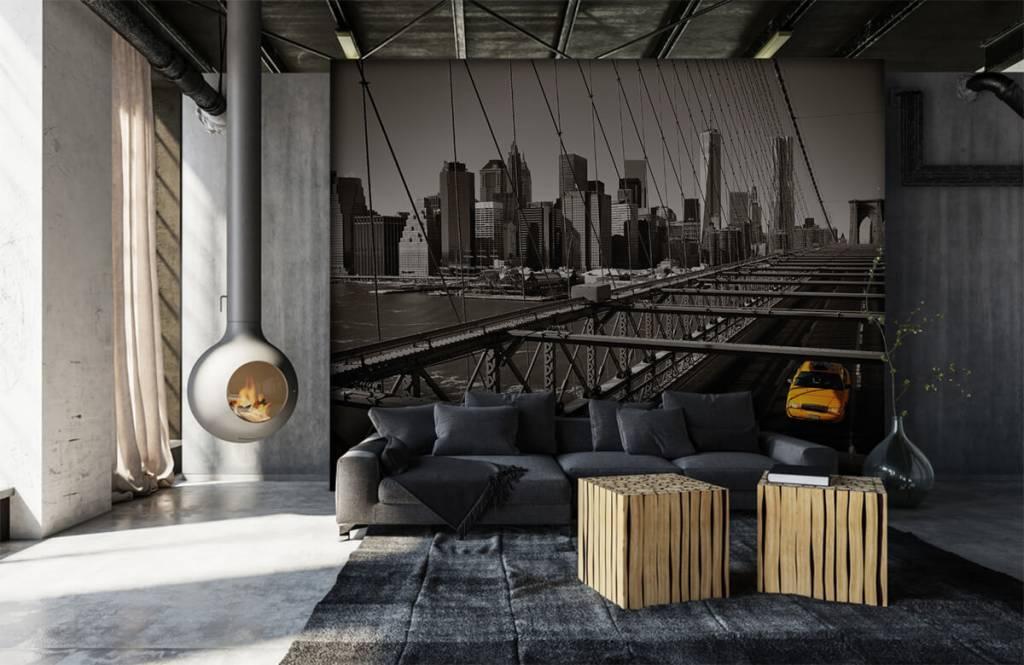 Zwart Wit behang - Skyline Manhattan - Tienerkamer 6