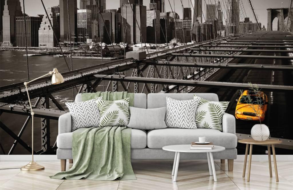 Zwart Wit behang - Skyline Manhattan - Tienerkamer 7