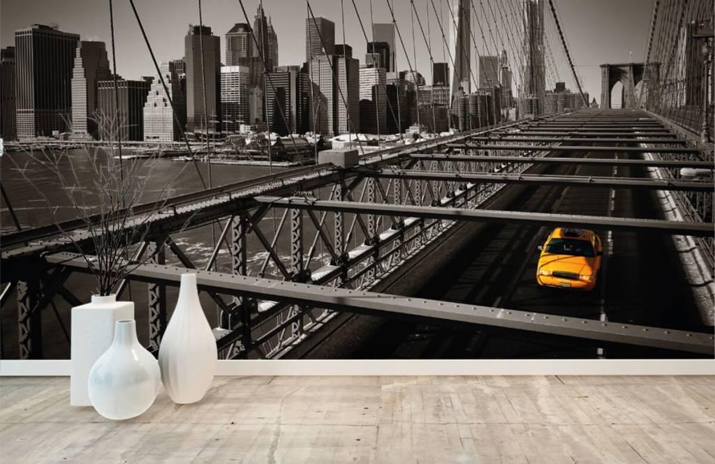 Zwart Wit behang - Skyline Manhattan - Tienerkamer 8