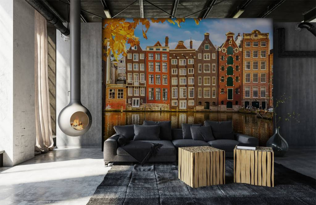 Steden behang - Amsterdam - Slaapkamer 6