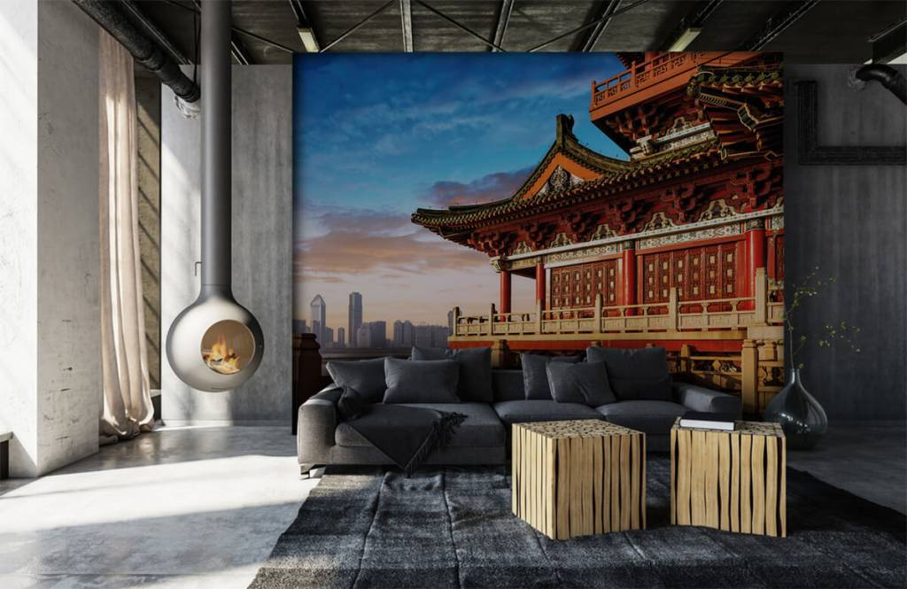 Steden behang - China - Slaapkamer 7